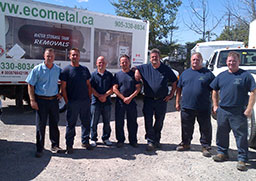 Photo of the ECO Metal Recycling Team
